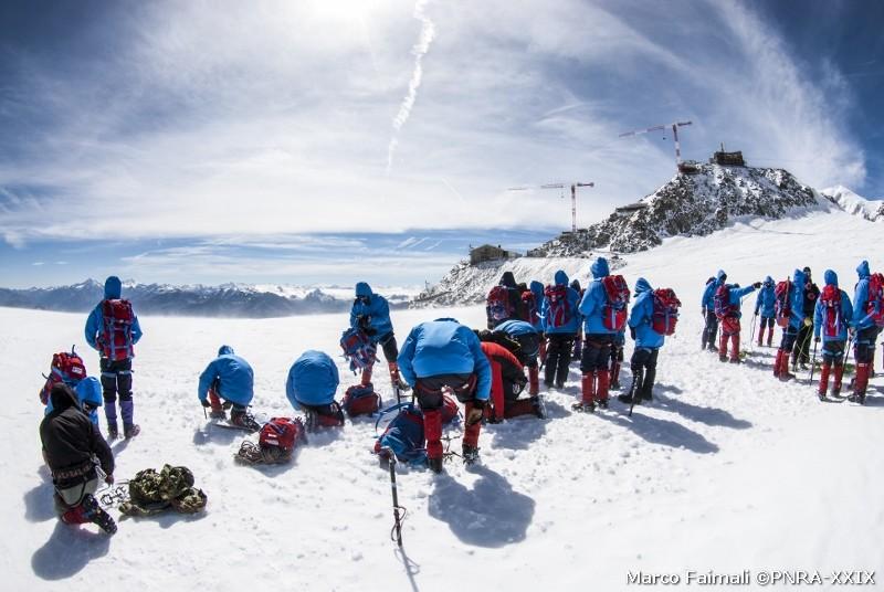 Arrivo sul ghiacciaio