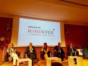 Da sinistra: Patrizia Grieco, Stefano Zamagni, Elisabetta Soglio, Luigi Bobba, Beppe Sala